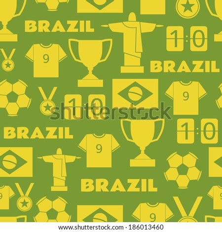 seamless pattern with brazilian