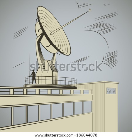 man at the site of  large radar