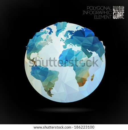vector world globe  3d