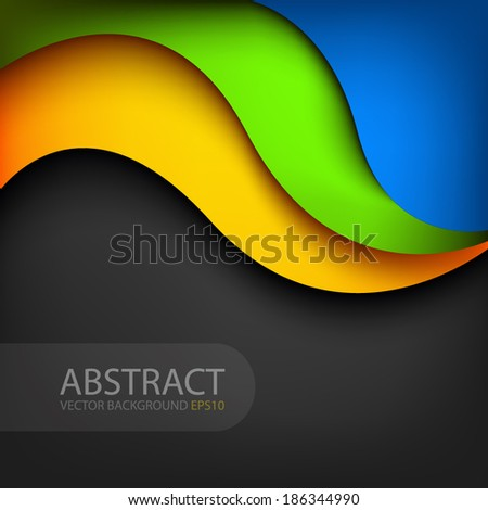 curve background line colorful