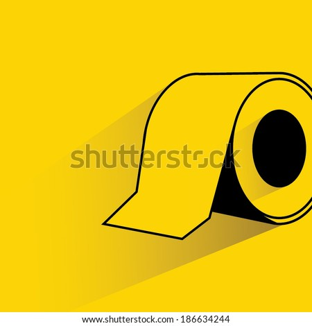 toilet paper roll yellow