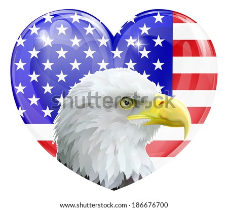 eagle america love heart