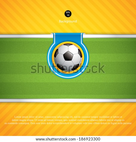 soccer ball backgroundvector
