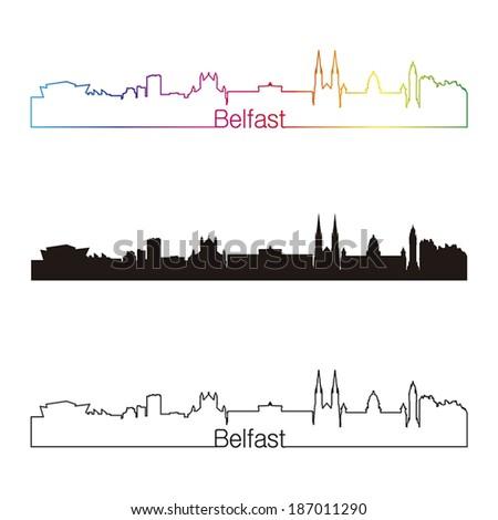 belfast skyline linear style