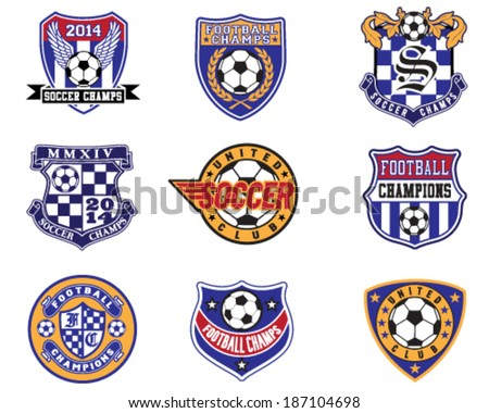 football soccer badges  patches