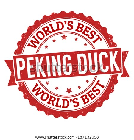 peking duck grunge rubber stamp