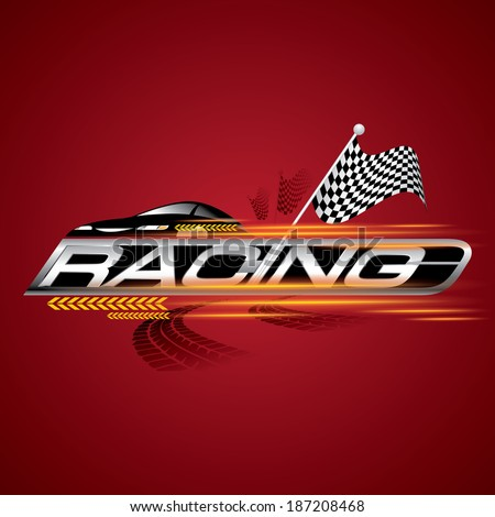 racing with checkered flags