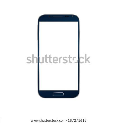vector blue modern phone on