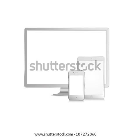illustration of modern white