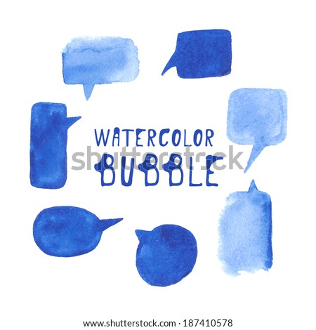 watercolor bubble set vector
