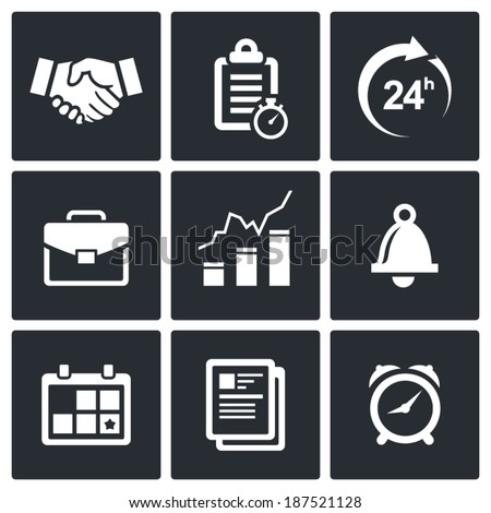 office business icons set
