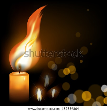 holy fire on a dark background