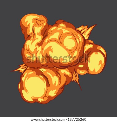 illustration 2d explosion