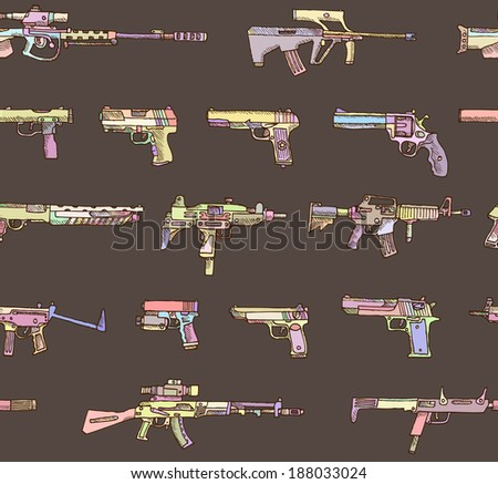 seamless pattern with weapons