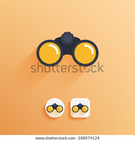 binoculars icon examples of