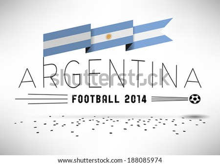 argentina football design with