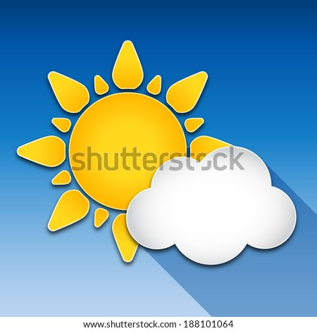 sun and cloud with long shadow