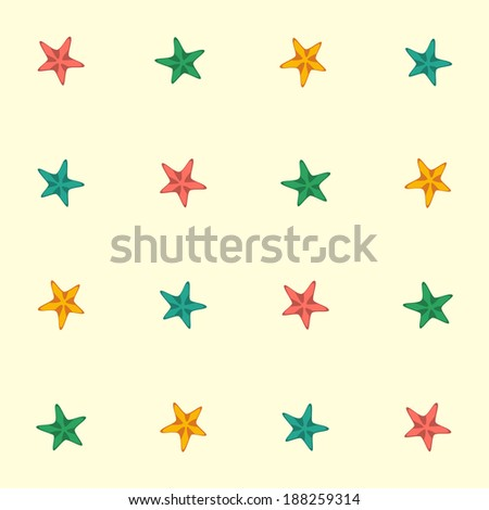 decorative starfishes  seamless