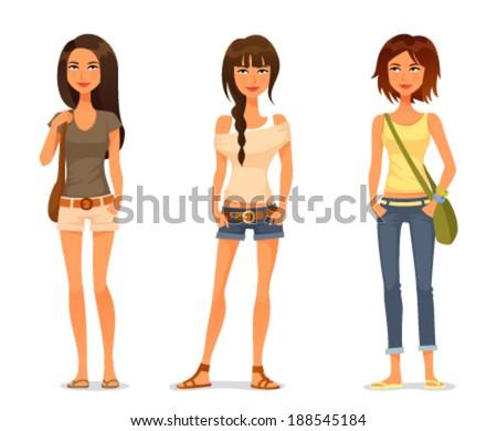 cute teenage girls in spring or