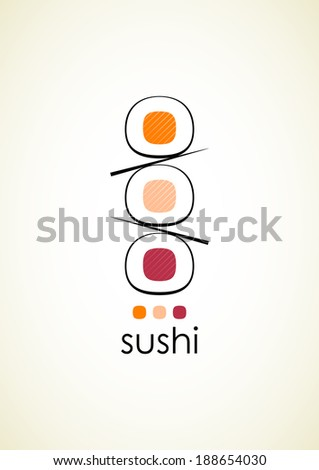 sushi menu design template with