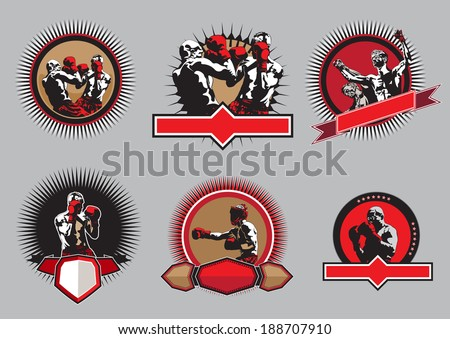 set of six different vector