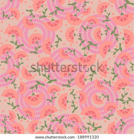 vector seamless stylized flower