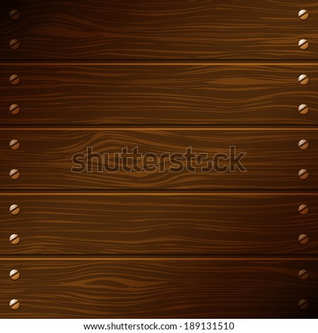 dark wooden boards with screws