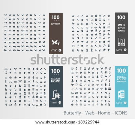 butterfly    web   home    icons