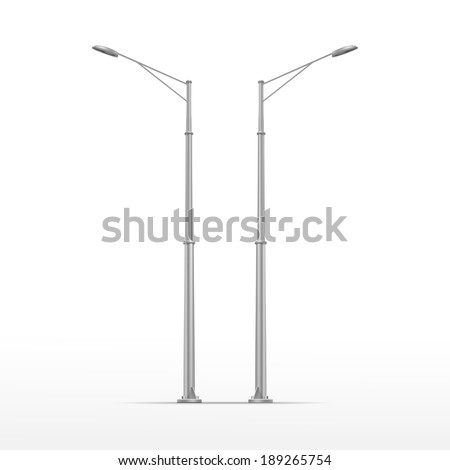 vector street lamp isolated on