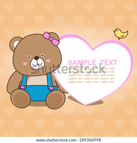 lovely bear card collection no