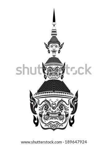 thai giant vector