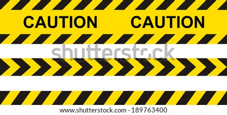caution  danger  and police
