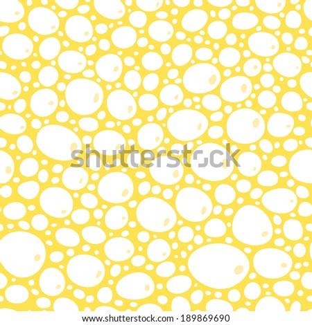 white foam bubbles on yellow