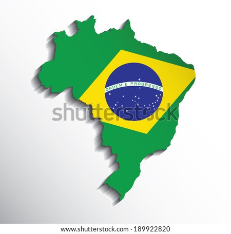 map of brazil with flag colors