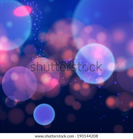 abstract colorful bokeh space