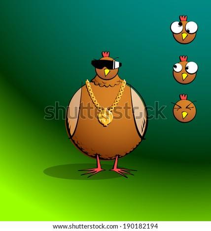 chicken r round   bling chicky