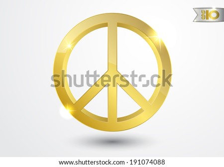 gold peace sign cross
