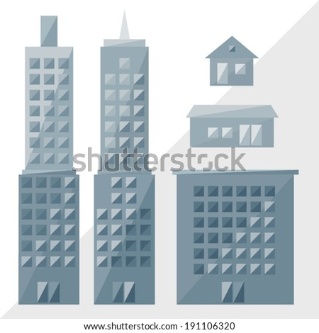 grey buildings icon