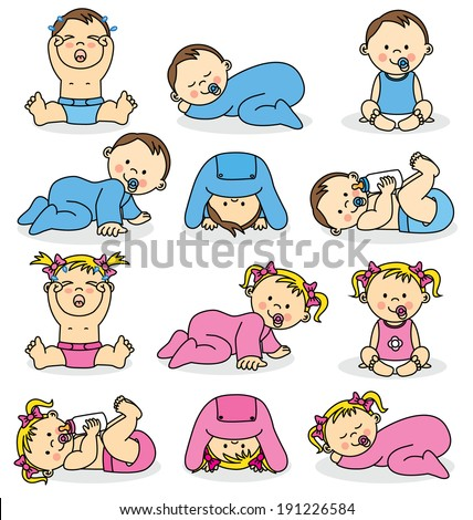 vector illustration of baby