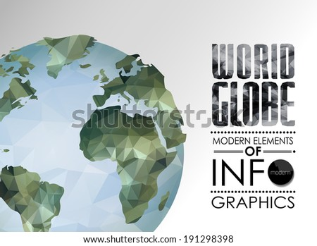 vector world globe  triangular