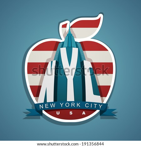 new york city vector emblem