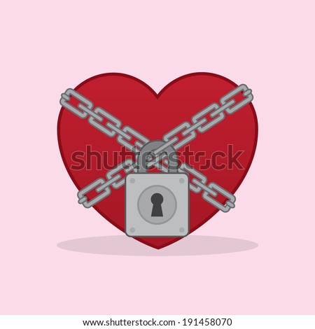 heart locked up in chains