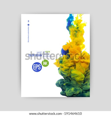 vector ink swirling in water