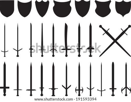 swords and shields set