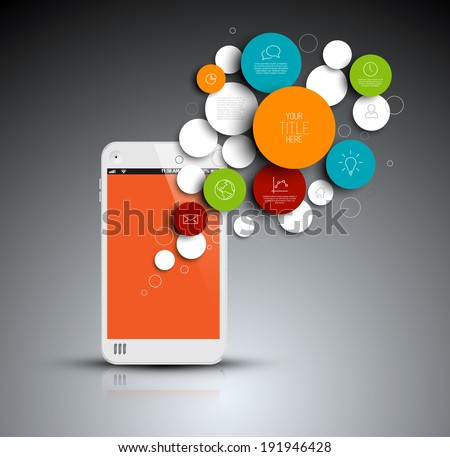 dark vector abstract phone