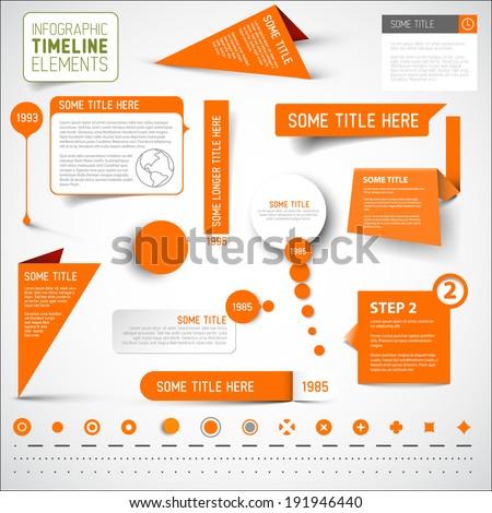 vector orange infographic