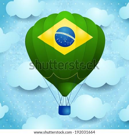 hot air balloon with brazilian