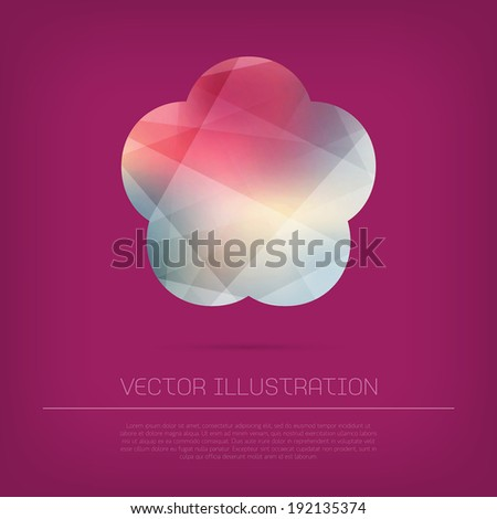vector flower icon with