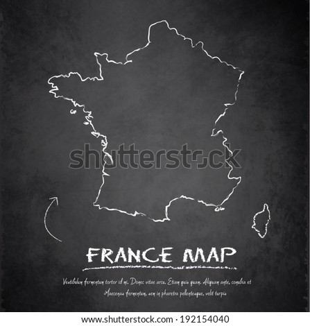 france map blackboard