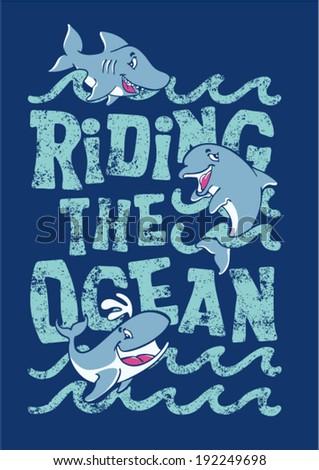 riding the ocean   artwork for